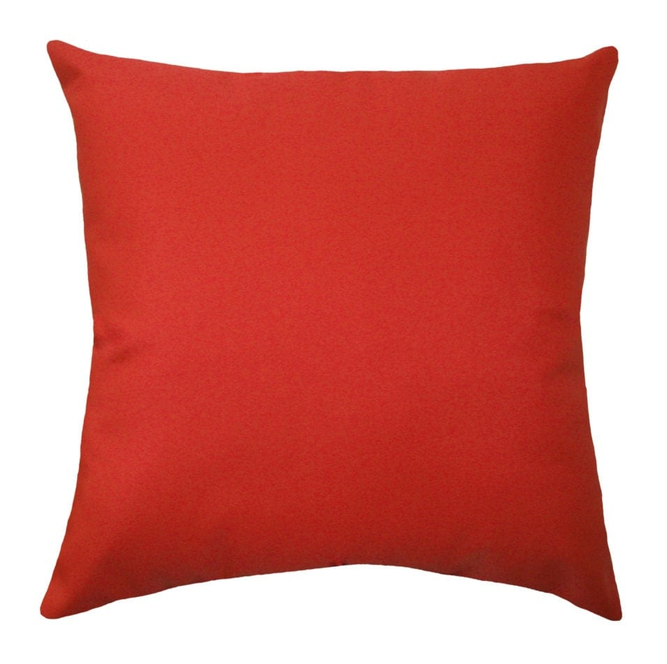 solid red outdoor pillow cover christmas pillow cover red - 🔎zoom