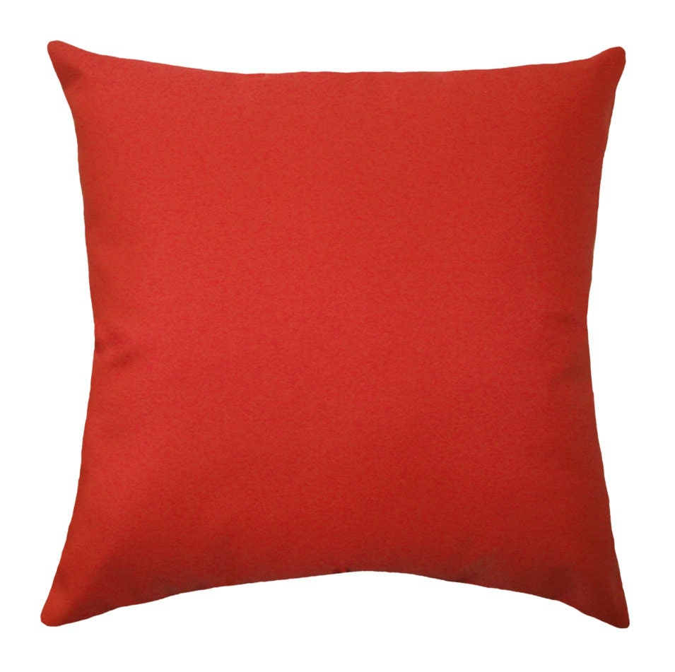 Throw Pillow Red : Solid Red OUTDOOR Pillow Cover Christmas Pillow Cover Red