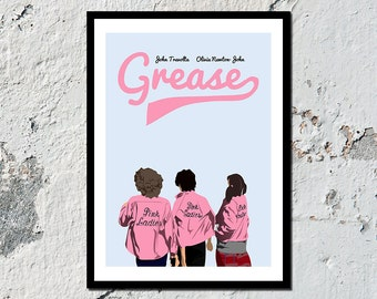 """Grease """"Pink Ladies"""" high quality film print (A5, A4, A3)"""