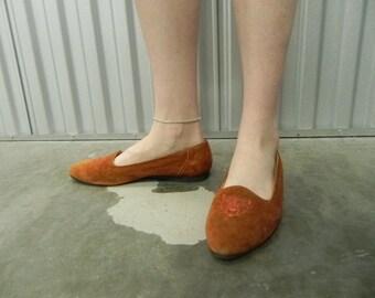 Prima Pillows Burnt Orange Suede Loafers