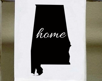 Home Alabama State Kitchen Towel, Dish Towel, white decorative , choose color from color chart