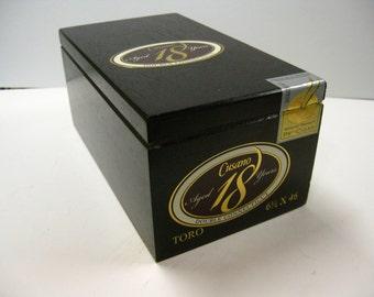 Cigar Box Craft Box Pochade Box Gift Box Cusano All Wood Cigar Box Repurpose Pochade Box Pocketbook Purse Art Craft Supply Groomsman Humidor