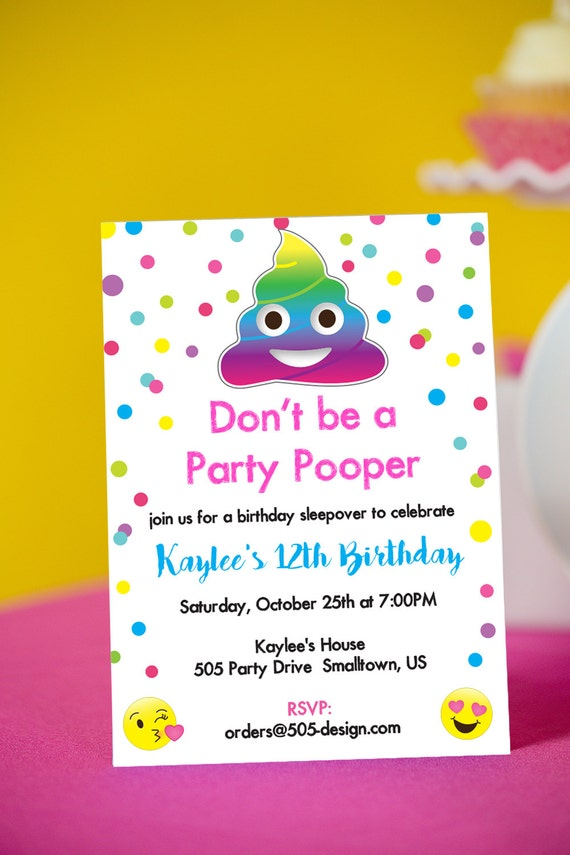 Emoji Birthday Invites Invitations