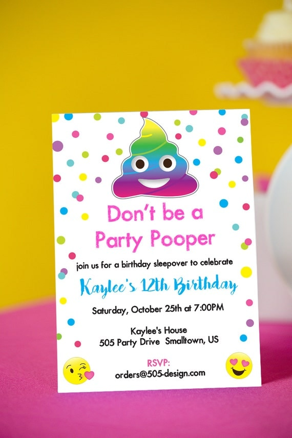 Selective image for printable emoji invitations