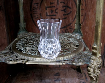 Cut Glass Vase, Vintage Glass, Tiny Vase, Glass Vase, Small Flower Vase, Small Vase, Bud Vase, Posy Vase, Posy Holder, Sparkly Glass