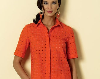 Butterick Pattern B6324 Misses' Button-Down Collared Shirts