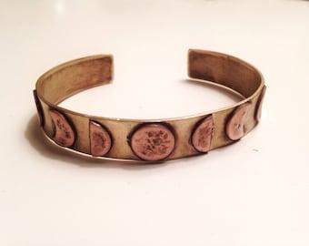 Lunar Phases Cuff Bracelet