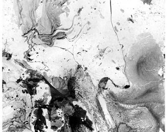 Melt - Polar Bear, Original Ink Painting, Polar Bear Art, Bear Painting, Animal Art, Global Warming, Polar Bear Painting, Ink Painting