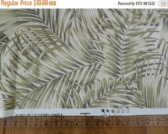 On sale Destash- Home Decor Weight Fabric Remnant With Fern Print