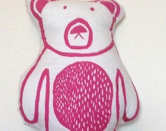 Cushion - Pink Bear Cushion - Bear Print - Bear Pillow - Pink Bear