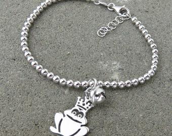 Prince Charming Frog & Bell Bracelet