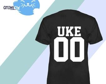 Uke Jersey Style Anime BL Yaoi T-Shirt