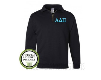 Alpha Delta Pi Quarter Zip, Monogram Fleece Pullover, Monogram Sweatshirt, Monogram Pullover, Sorority Pullover, Big Little Gift, ADPi