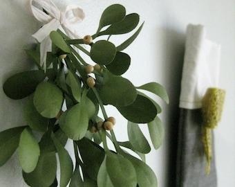 Handmade Paper Mistletoe