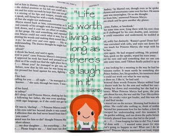 Anne of Green Gables Quote Bookmark