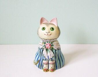 Fancy looking cat figurine from Mottahedeh italia, vintage