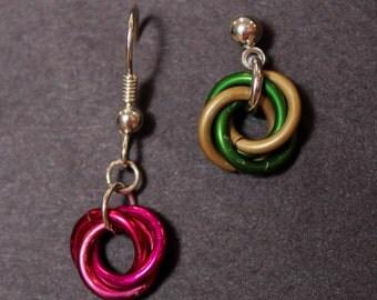 Colorful Mobius Earrings