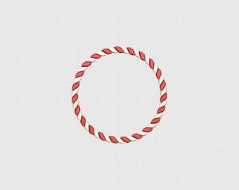 Christmas Monogram Frame Machine Embroidery Design - 5 Sizes