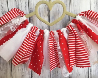Shabby Chic Christmas Tutu // Baby Girl Christmas Skirt // Girls Christmas Tutu // Christmas Tutu // Baby Christmas Outfit