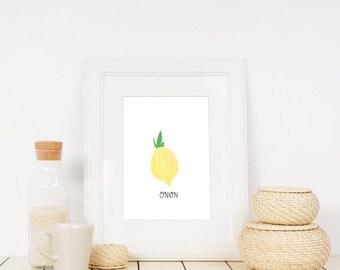 Onion lllustration Printable