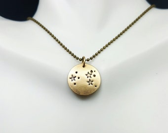 Constellation Necklace. Leo necklace. Stars necklace. Zodiac constellation. Astrology necklace. Leo pendant. Gold Constellation necklace