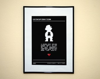 Shigeru Miyamoto. GEEKSPIRATION. Minimalist Videogame Poster Art Print.