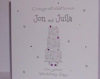 Personalised Handmade Wedding Day card
