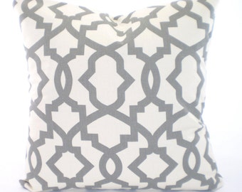 Gray Cream Decorative Throw Pillow Covers, Cushion, Grey CREAM Geometric Pillow Sheffield Couch Sofa Bed, One or More All Sizes