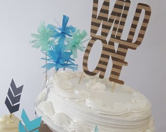 Wild One Tribal Birthday Party Cake Topper