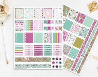 Owl Printable Planner Stickers Mint Blue Purple Green Digital Planners Instant Download Cute Nursery Baby Birds Wedding Print Cut