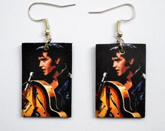 Earrings with Elvis Presley Picture