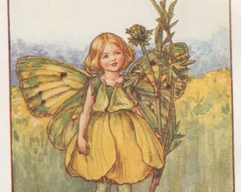 Flower Fairies: THE BUTTERCUP FAIRY Vintage Print c1930 by Cicely Mary Barker