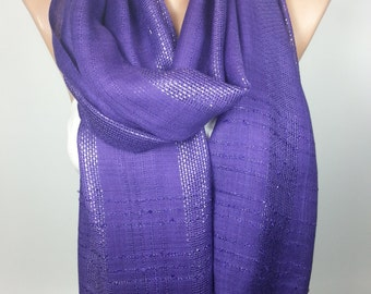 Purple Scarf Shimmer Scarf Sparkly scarf Women Fashion Accessories Gift For Christmas Gift Ideas For Her