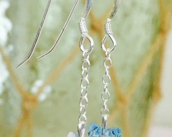 Butterfly Kisses, Sterling Silver and Swarovski Crystal Earrings