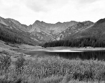 Gore Range Piney Lake, Vail  print. Canvas photo print. Canvas Photography. Wall Art. 8x10, 11x14, 16x20, 20x24.