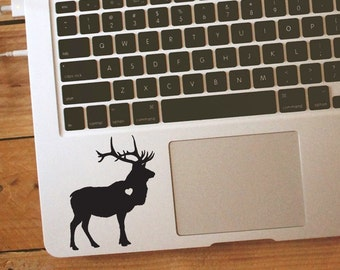 Elk w/ Heart sticker Car Laptop Vinyl Decal Sticker