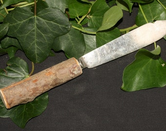 Athame with English Yew Wood handle and Up-cycled Blade - Ritual Knife - for Pagans, Witches and Wiccans.