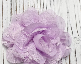Purple Flower Hair Clip, Alligator Clip, Lace Flower Hair Clip,  Child, Teen, Adult, Add A Flower to a Headband