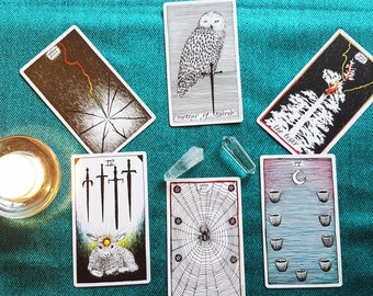 Tarot or Oracle Card Reading - Choice of Decks listed below -  Digital .PDF Report