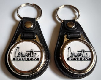 CORVETTE STING RAY keychain 2 pack