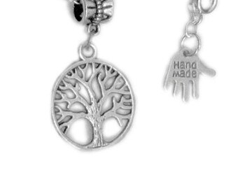 silver tree necklace, fashion jewellery, tree charm necklace, handmade necklace, silver necklace, tree of life, symbol