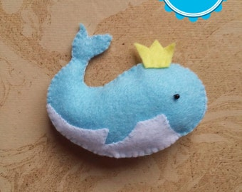 Whale - PDF pattern, instant download, felt sewing patters, handsewing, DIY, sewing crafts, animal pattern, no. 28