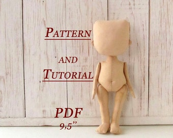 Lerika Doll - Pattern Doll Body - PDF - Sewing Pattern - Rag Doll Pattern pdf - Blank Rag Doll - PDF Doll - Body - Doll Form - Textile Doll