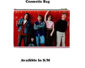 Breakfast Club Cosmetic Bag, Cosmetic Bag, Make Up Bag, 80's, 80's films,  molly ringwald, breakfast club, sixteen candles
