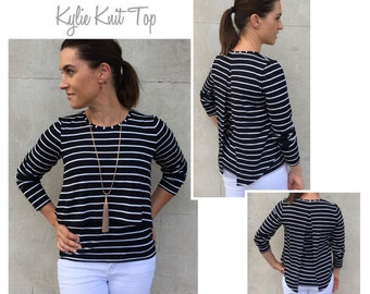 Kylie Knit Top PDF Sewing Pattern // Sizes 16, 18, 20 // Digital PDF sewing pattern by Style Arc