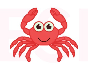 Crab svg, Nautical svg, SVG, DXF, EPS, cutting files for use with Silhouette and Cricut Explore Machines. Beach svg files, svg cuts