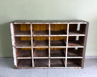 Chicken Coop Shoe Rack, Chicken Nesting Box, Antique Farmhouse Cabinet