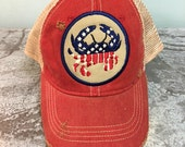Patriotic Crab Cap, Distressed Ball Cap