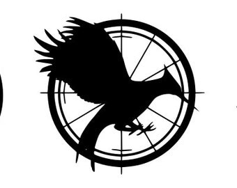 "The Hunger Games MockingJay Decal/Sticker Trio 3""x10"" *Free Ship*"