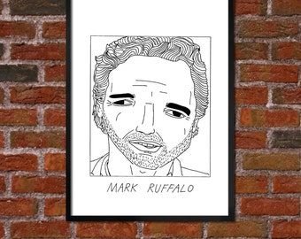 Badly Drawn Mark Ruffalo - Poster - *** BUY 4, GET A 5th FREE***